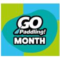 Go Paddling Month Logo