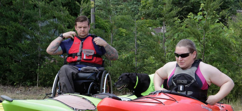 paddling with a disability