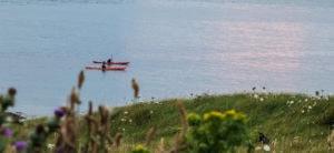 paddling on the sea