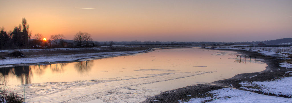 The River Stour in Suffolk in Winter