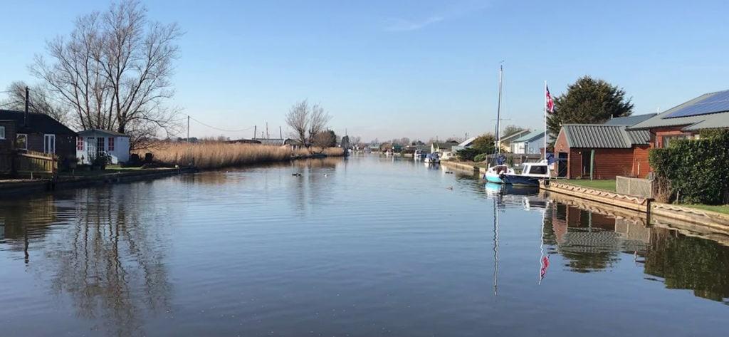 River Thurne in Norfolk