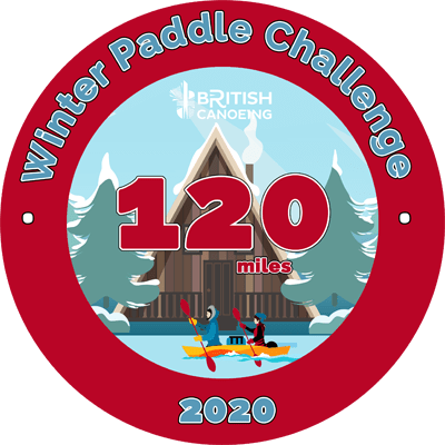 120 Mile Sticker for Winter Paddle Challenge