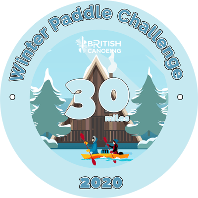 30 Mile Sticker for Winter Paddle Challenge