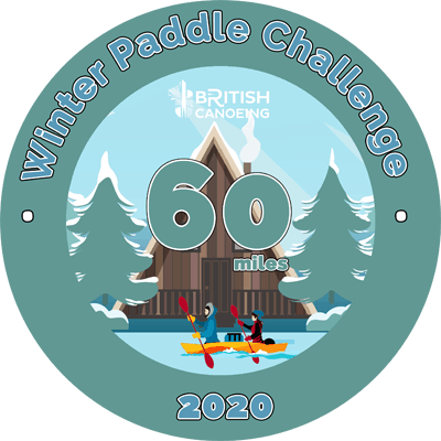 60 Mile Sticker for Winter Paddle Challenge
