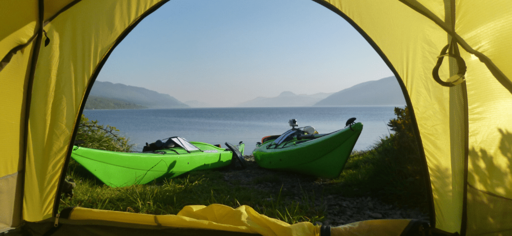 Kayak touring holiday image