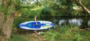 First time stand up paddle boarding