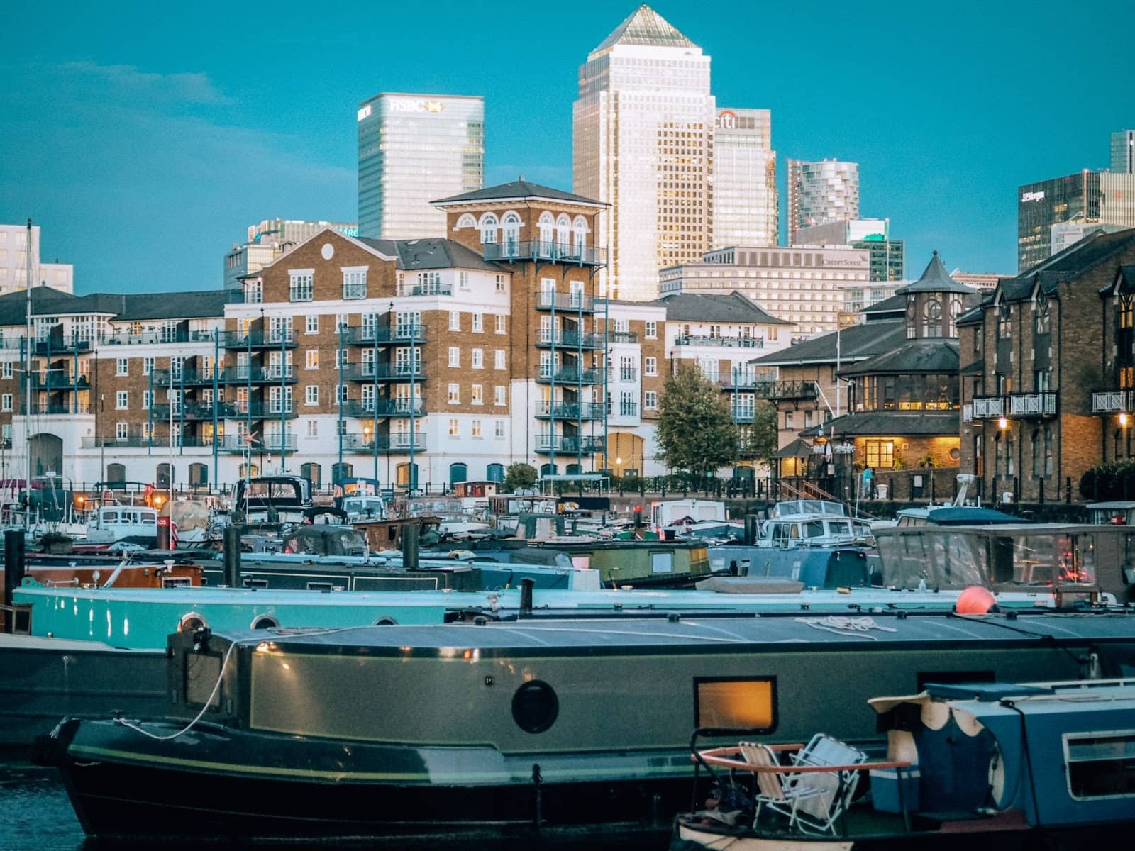 Limehouse Basin launch points in London