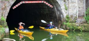 paddling through canal tunnels