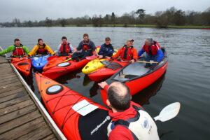 People canoeing and kayaking