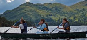 family paddling holiday