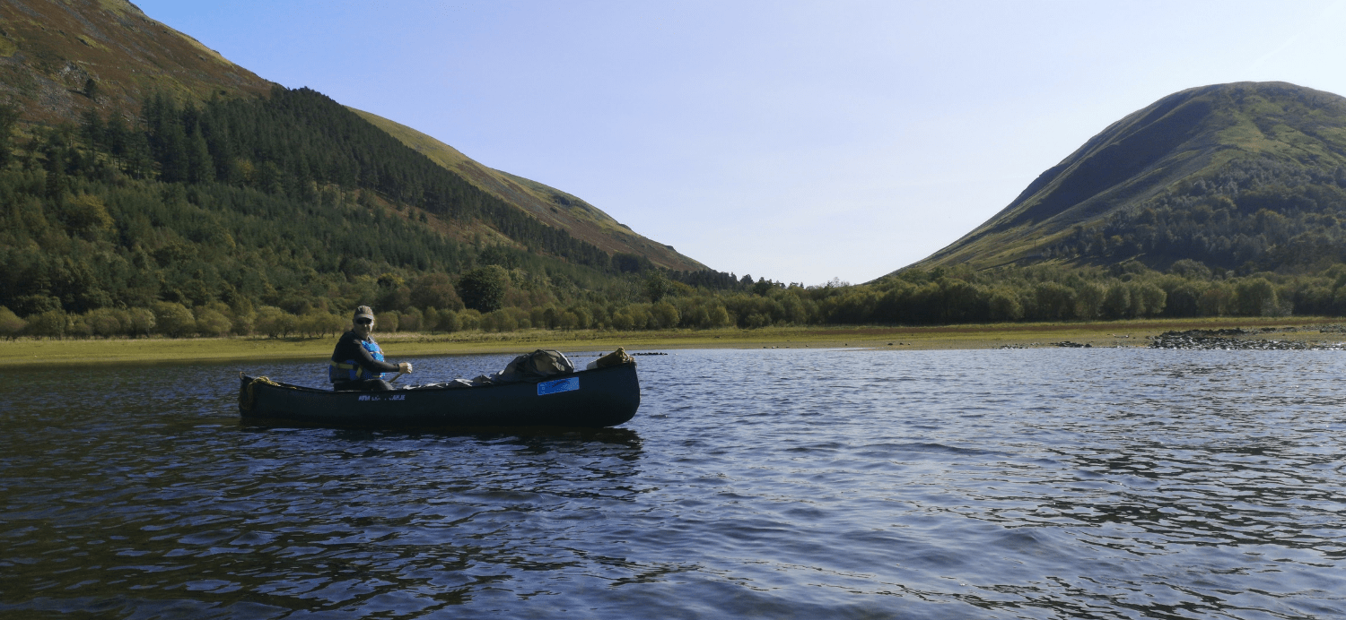 Canoeing on Thirlmere - Lake District
