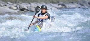 Wild Water racer coming through rapids