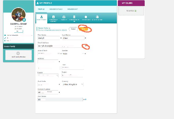 Membership Screen Shot