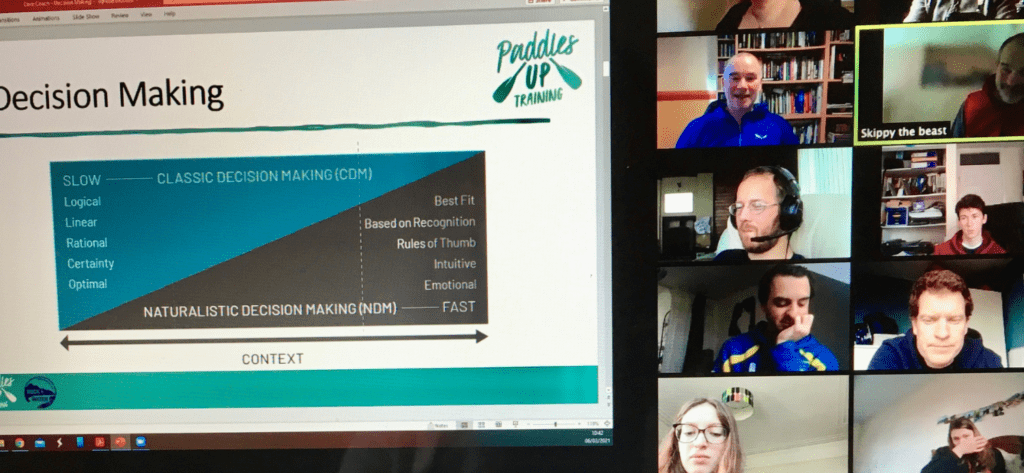 a computer screen with a powerpoint presentation and the candidates attending their online training